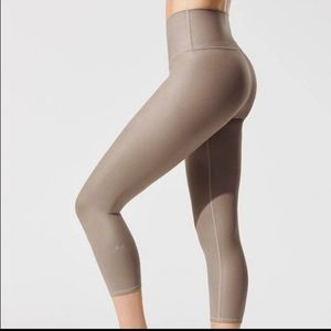 Alo airbrush* high waist * gravel cropped leggings